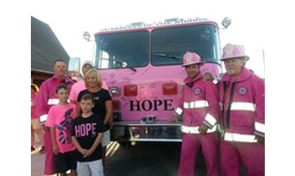 Pink Fire Truck Is Named Hope