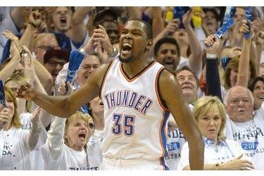 4d613573635 OKLAHOMA CITY (AP) – Kevin Durant matched his career playoff high with 41  points and the Oklahoma City Thunder beat the San Antonio Spurs 111-97 on  Sunday ...