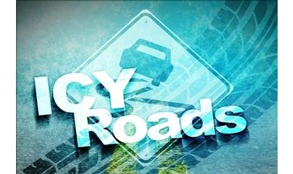 Extreme icing conditions causing collisions across area