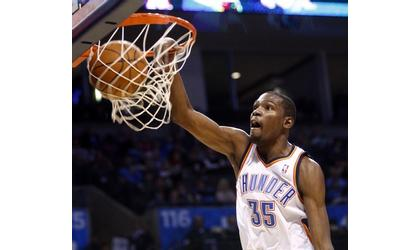 Kevin Durant's Triple Double Leads Thunder To Win