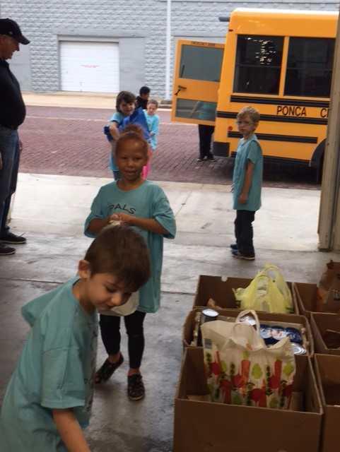 Class learning life skills; donates food to NERA