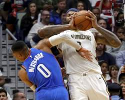 Pelicans rally to beat Thunder