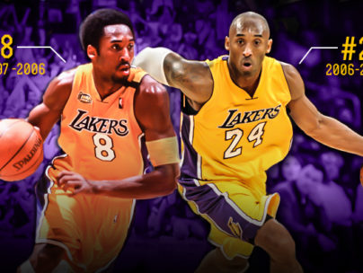 check out b8285 46d41 Lakers retire Kobe Bryant's jersey numbers