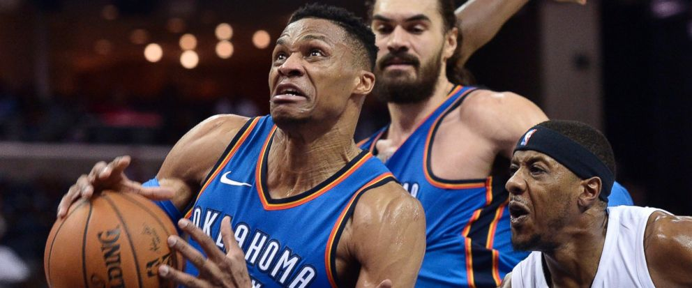 George, Westbrook's triple-double lead OKC past Grizzlies