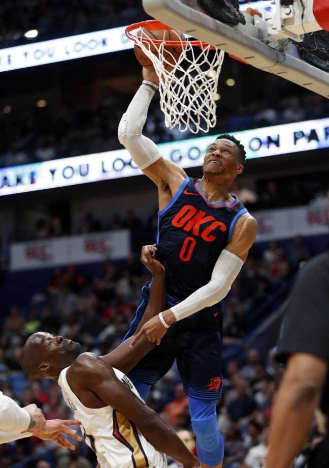 Westbrook leads Thunder over New Orleans Pelicans 109-104