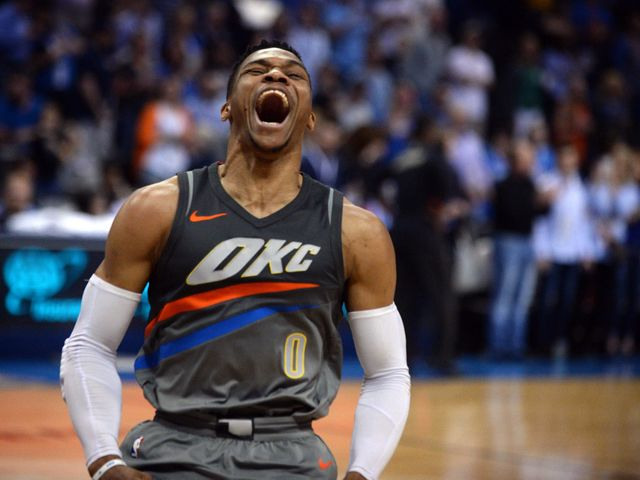 Westbrook first player to average a triple-double in more than one season