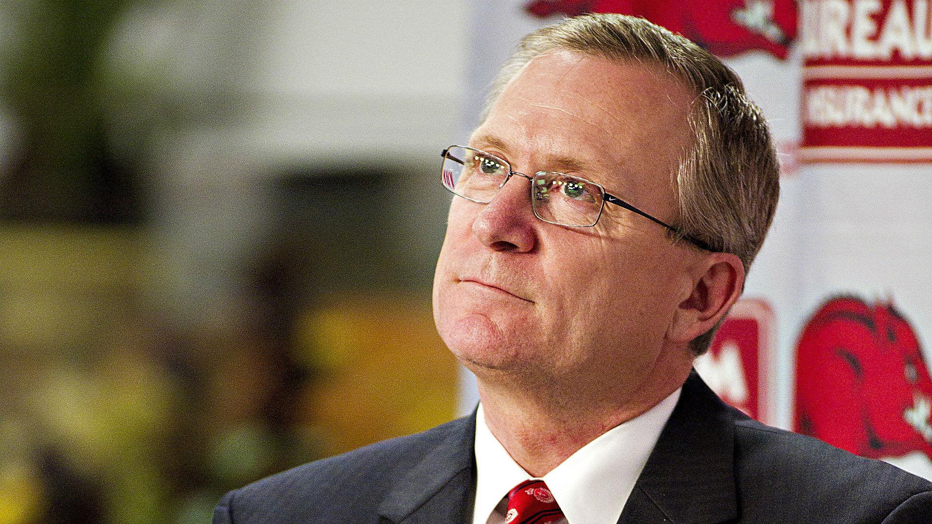 Kansas hires former Arkansas AD