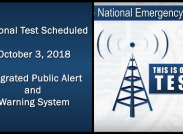 National Wireless Emergency Alert Test today at 1:18 p m