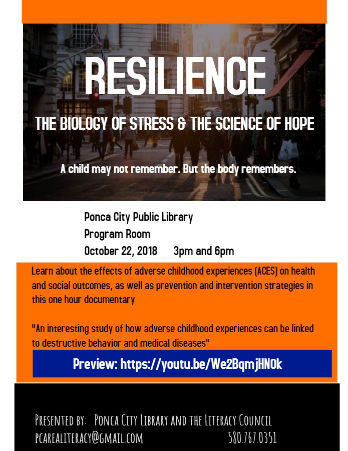 Literacy Council, Library to show documentary on impact of trauma