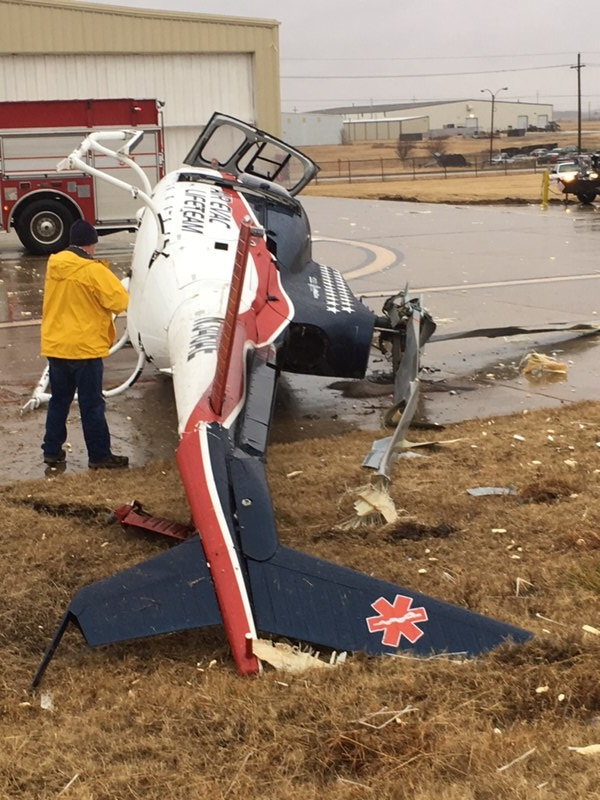 Helicopter crashes at Ponca City Airport