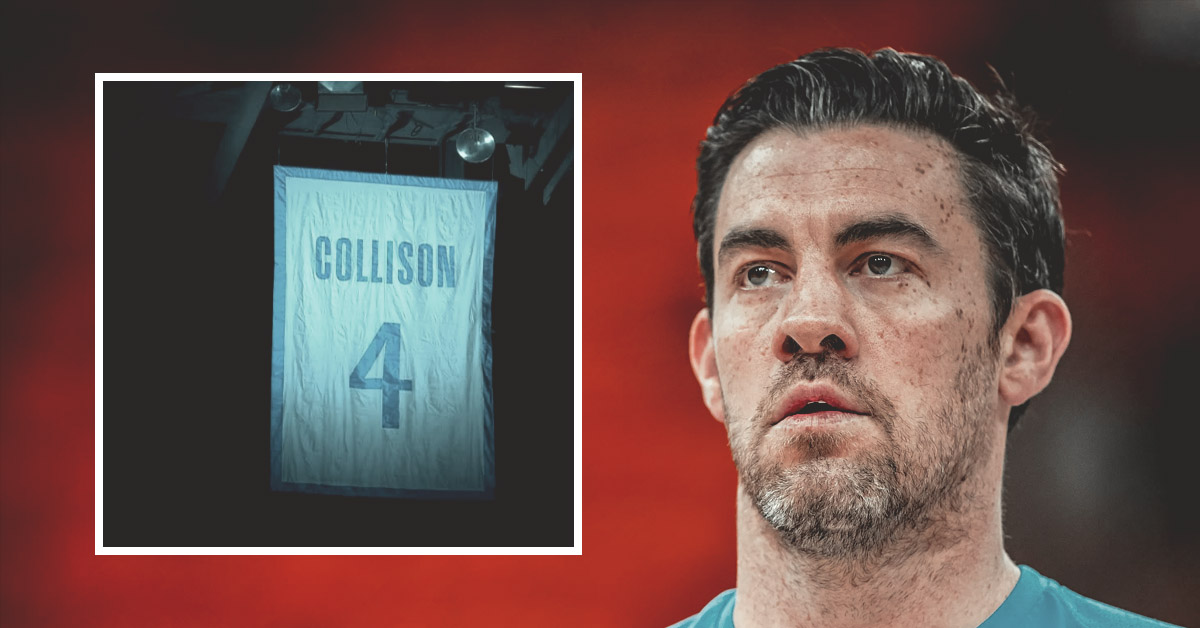 Nick Collison's No. 4 jersey retired
